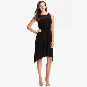 VINCE CAMUTO Black Sheer Back Blouson Dress sz 10